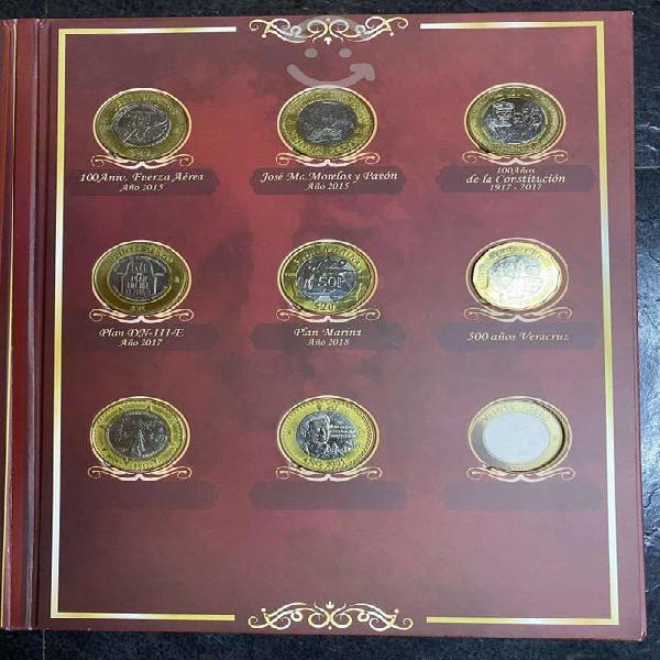 Colección monedas 20 pesos conmemorativas lleno 17