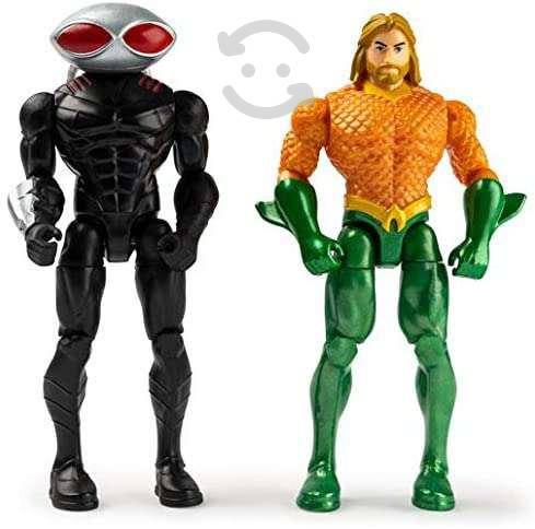 Figuras dc heroes unite aquaman vs black manta
