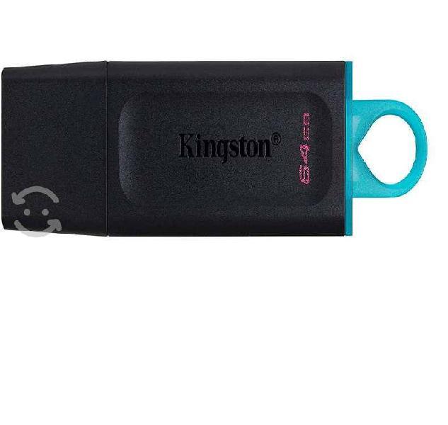 Memoria kingston 64gb usb 3.2 alta velocidad datat