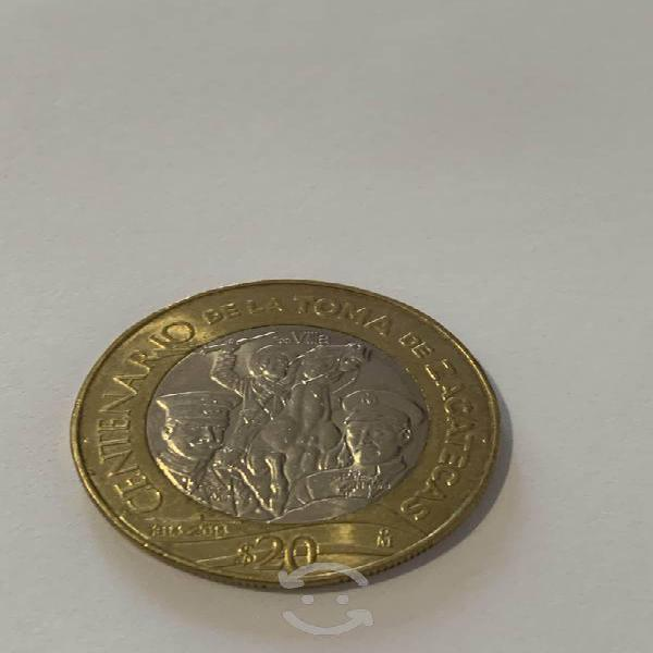 Moneda conmemorativa toma de zacatecas