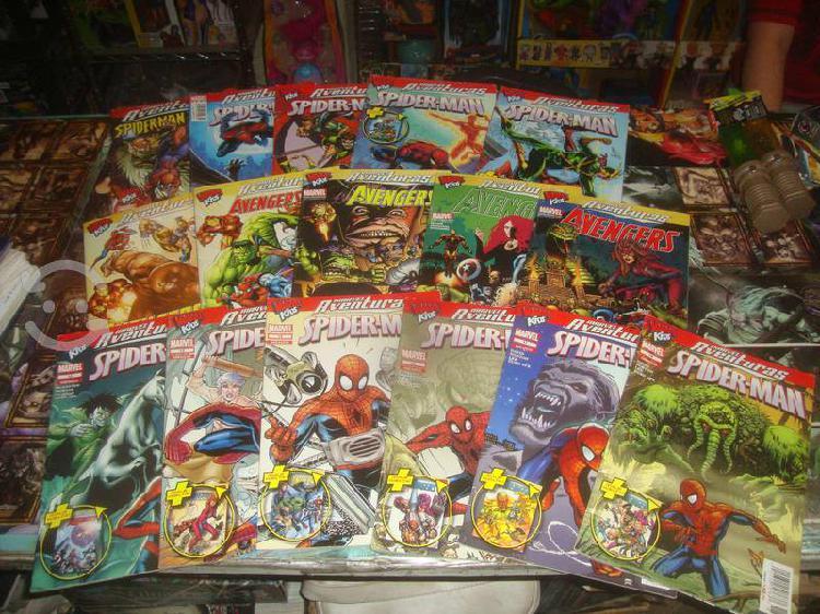 Pack 17 comics spiderman / avengers flip book
