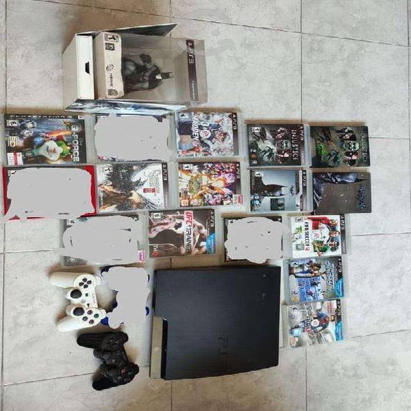 Sony playstation 3 slim 120gb + juegos y controles