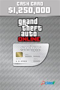 Grand theft auto v great white shark cash card, 1250000 puntos, xbox one - producto digital descargable
