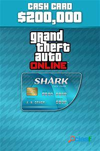 Grand theft auto v tiger shark cash card, xbox one - producto digital descargable