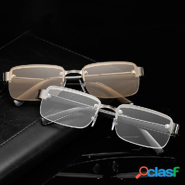 Classic lectura gafas sin marco hd lectura gafas para ojo de hombre viejo salud cuidado
