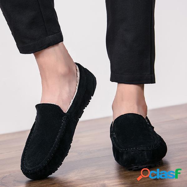 Nueva temporada de zapatos para hombre, además de zapatos de algodón cálido, tendencia de hombre, gente, guisantes y zapatos, zapatos de hombre.