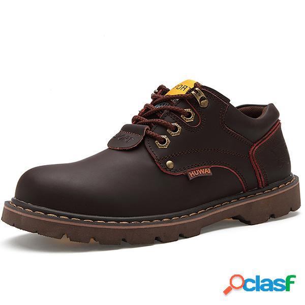 Zapatos de cuero sin cordones para hombres con bajos desgastados y sin cordones para hombre