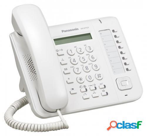 Panasonic teléfono alámbrico de 1 línea kx-dt521x, digital, altavoz, blanco