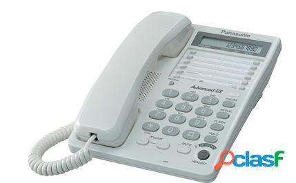 Panasonic teléfono con pantalla lcd kx-ts108, alámbrico, blanco