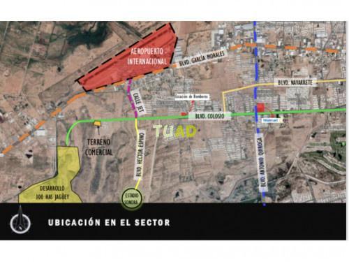 Terreno comercial de 13,000 m2 en la coruña hermosillo