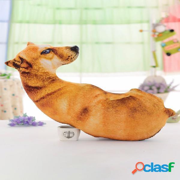 Kawaii 3d simulación animal almohada felpa impreso samoyedo husky perro tigre