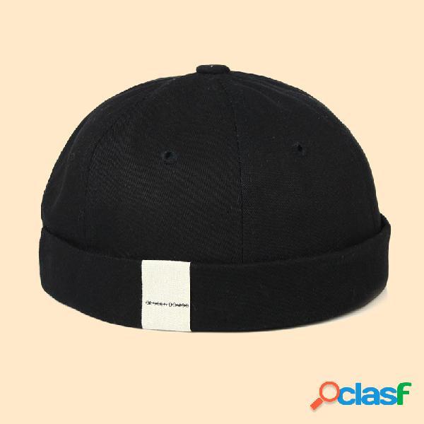 Hombre & mujer casual hip hop cráneo gorras vendimia sombreros sin ala con puños enrollados cráneo sombreros