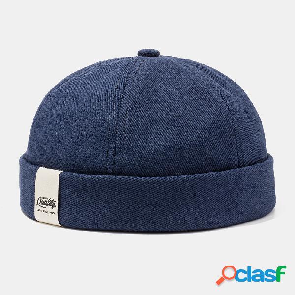Hombre & mujer gorra de marinero retro cold sombrero color sólido cráneo gorra sin ala sombreros