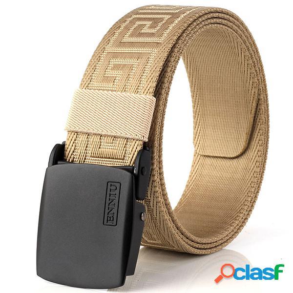Cinturones de nylon al aire libre de la lona de 125cm de los hombres cinturón automático sin agujero ajuste exacto cintura especial del modelo