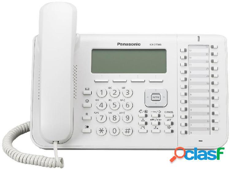 Panasonic telefono alámbrico kx-dt546x, altavoz, 24 botones, blanco