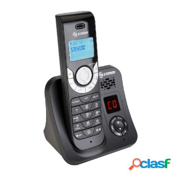 Steren teléfono inalámbrico tel-2480, altavoz, 1 auricular, negro