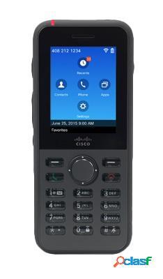 Cisco teléfono ip inalámbrico con pantalla 2.4'' 8821, altavoz, negro - incluye batería y cargador