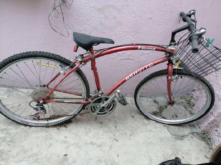 Bicicleta de 21 velocidades y bicicleta fija