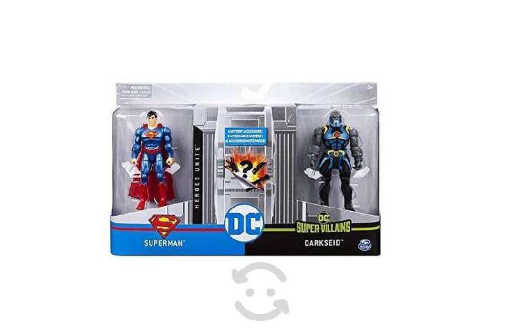 Figuras dc heroes unite - superman vs darkseid