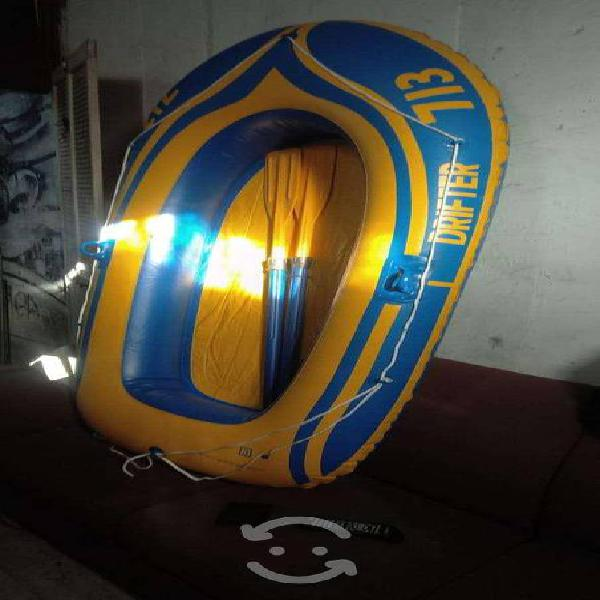 Lancha inflable 2 personas drifter 713 con remos