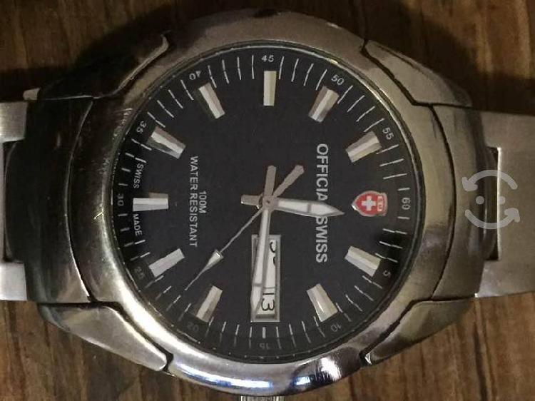 Reloj official swiss acero cuarzo pos cambio