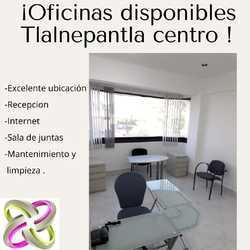 Oficinas fisicas disponibles en tlalnepantla centro