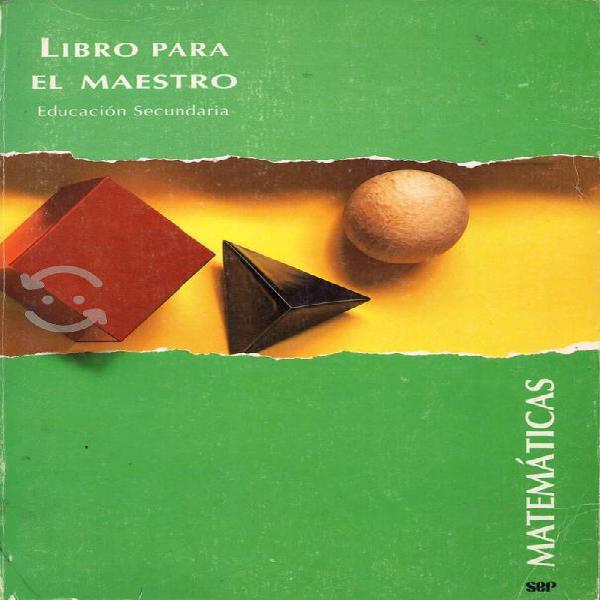 Libro matemáticas para el maestro secundaria