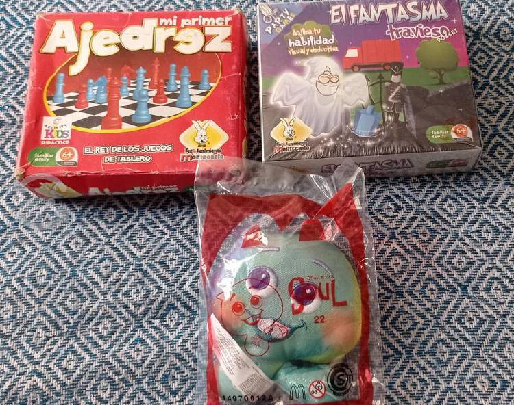 Lote 3 juguetes nuevos: soul, ajedrez, habilidad