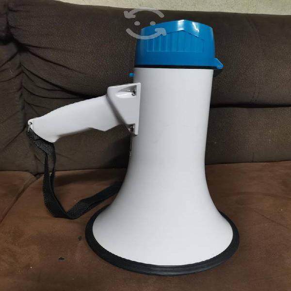 Megafono 25 watts con grabadora de voz sirena reca