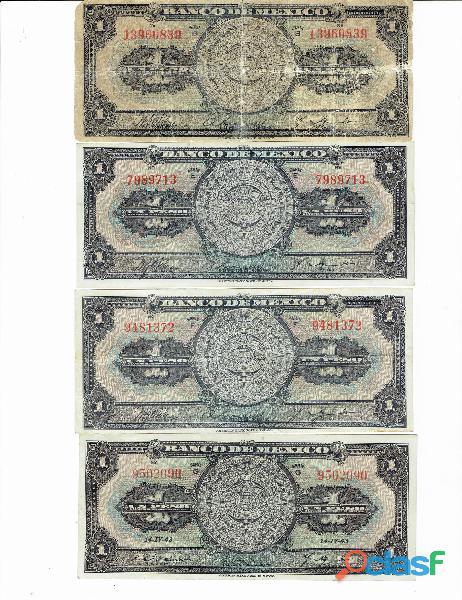 Colección billetes de 1$ calendario azteca