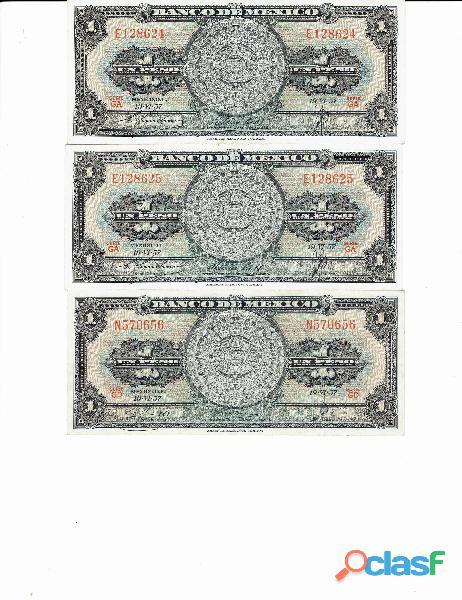 COLECCIÓN BILLETES DE 1$ CALENDARIO AZTECA 13