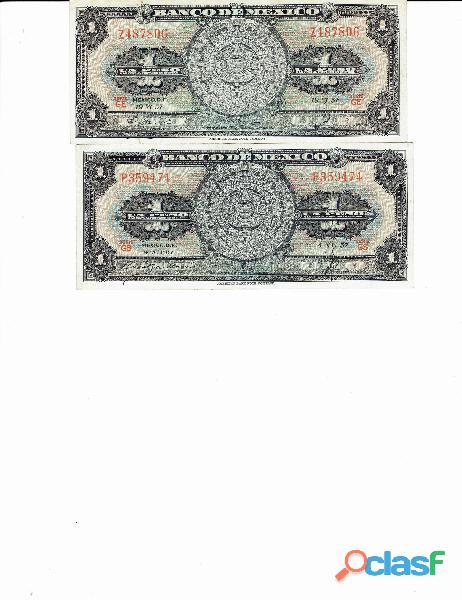 COLECCIÓN BILLETES DE 1$ CALENDARIO AZTECA 14