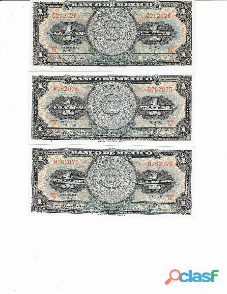 COLECCIÓN BILLETES DE 1$ CALENDARIO AZTECA 16