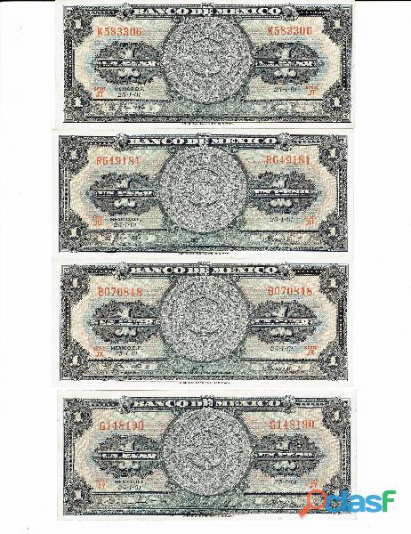 COLECCIÓN BILLETES DE 1$ CALENDARIO AZTECA 18