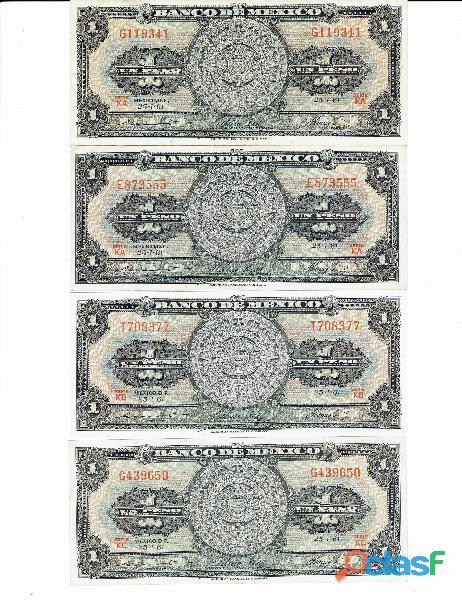 COLECCIÓN BILLETES DE 1$ CALENDARIO AZTECA 19