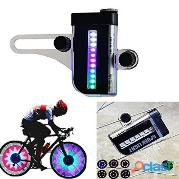 Luz LED para rueda de bicicleta, 14 LED de colores, dos lados