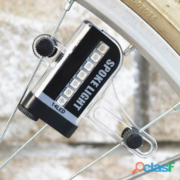 Luz LED para rueda de bicicleta, 14 LED de colores, dos lados 1