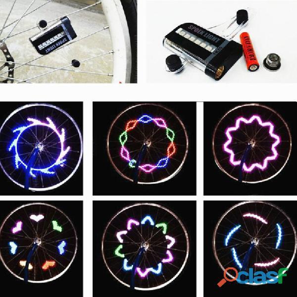 Luz LED para rueda de bicicleta, 14 LED de colores, dos lados 2