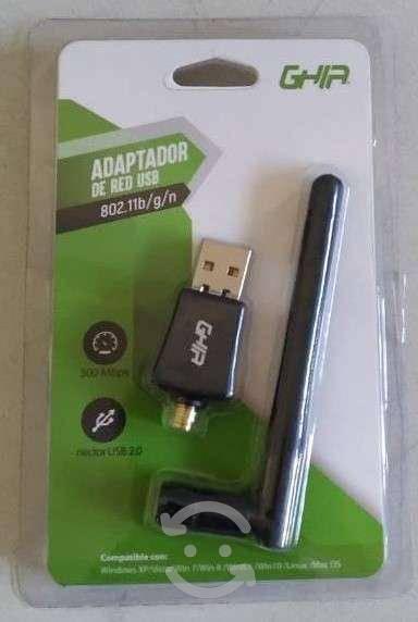 Adaptador usb wifi ghia con antena inalambrica