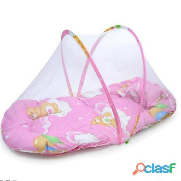 Cuna de bebé plegable portátil primavera verano con mosquitera