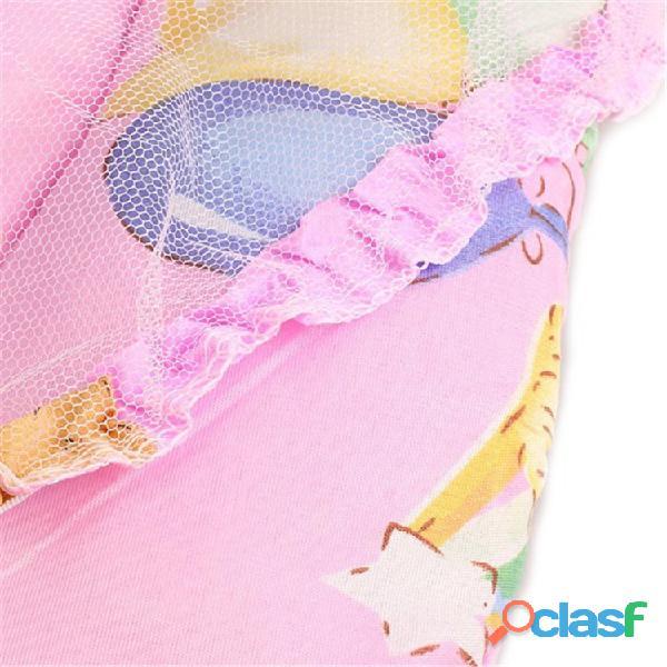 Cuna de bebé plegable portátil primavera verano con mosquitera 3