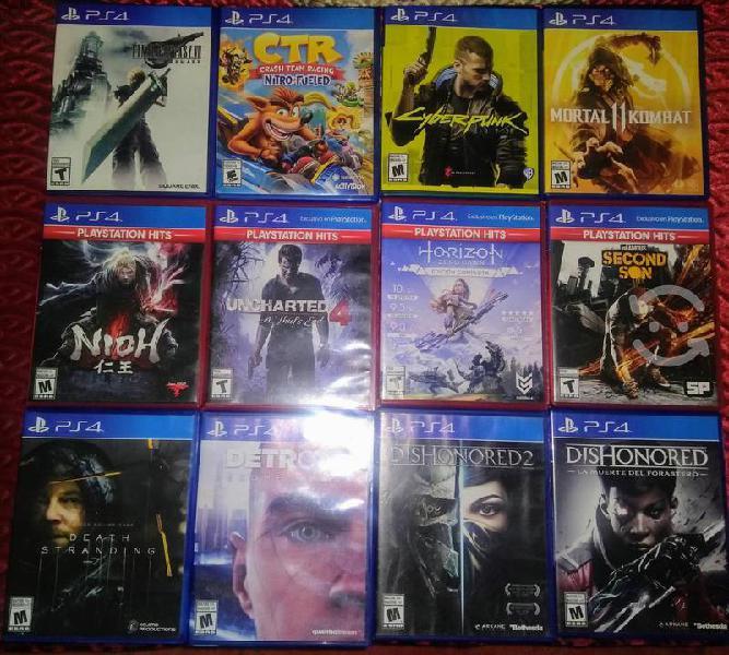 Lote juegos ps4