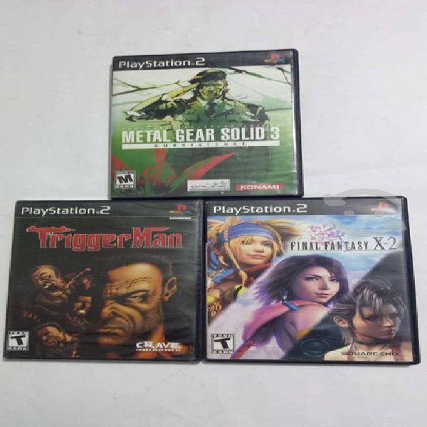 Juegos playstation 2 completos y algunas cajas