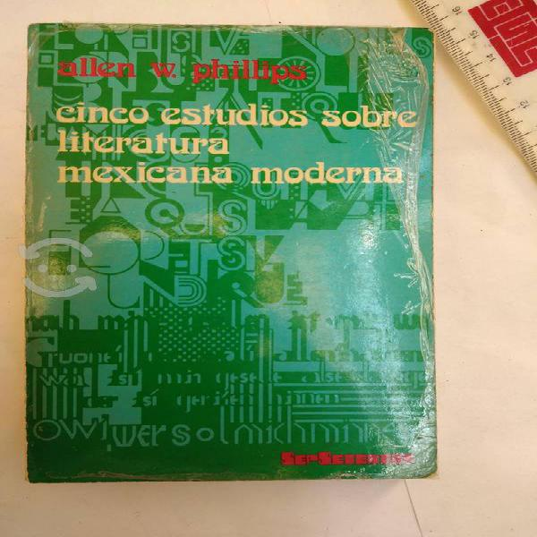 5 estudios sobre literatura mexicana moderna