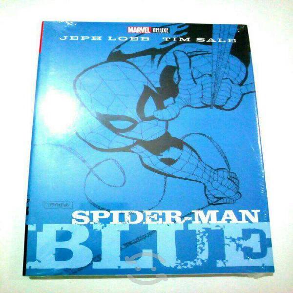 Marvel comics deluxe spiderman blue pasta dura esp