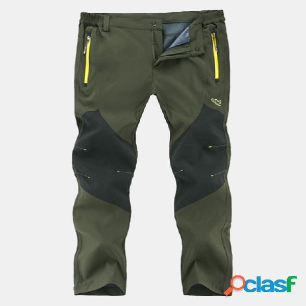 Al aire libre pantalón para hombre cintura elástica deportivo repelente al agua de secado rápido pantalones