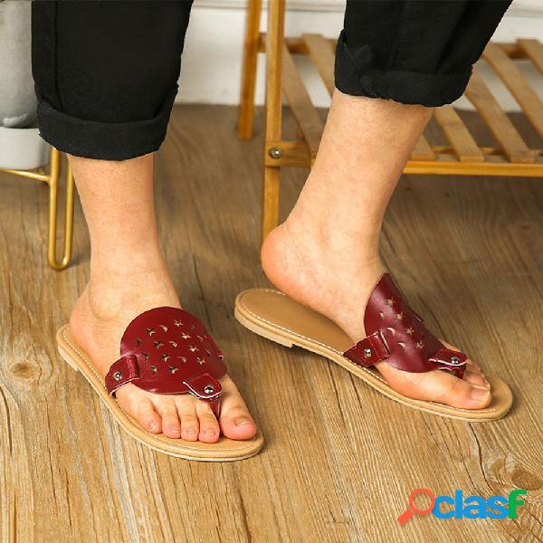 Mujer chanclas planas y cómodas para uso diario zapatillas