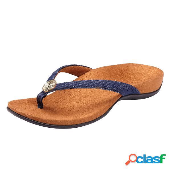Mujer chanclas grandes szie wedges casual playa zapatillas