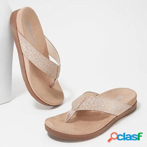 Mujer patrón chanclas portátiles ligeras playa zapatillas