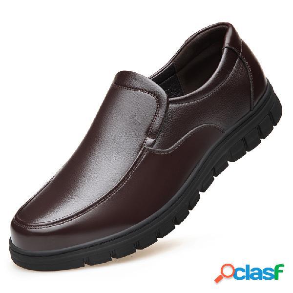 Cuero de microfibra para hombres resbalón resistente antideslizante en los zapatos ocasionales soft